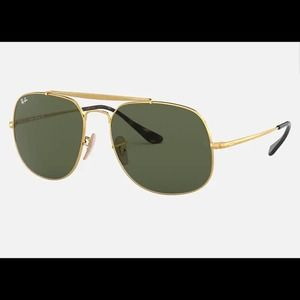 Ray-Ban The General Gold Square Sunglasses